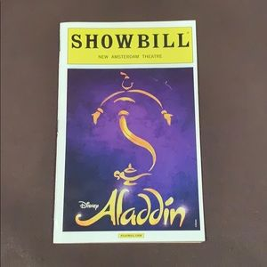 CLEARANCE!!! aladdin broadway playbill